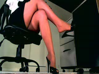 Your body weakens as you listen and watch her perfect legs sooth you into a state of sumission