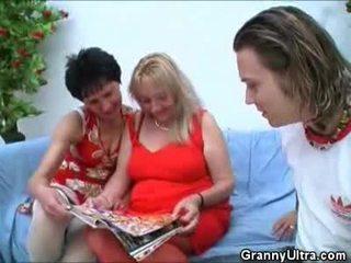 Pair grannies having vies