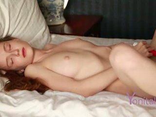 Yonitale: Emily Bloom is masturbating to get a fantastic orgasm.