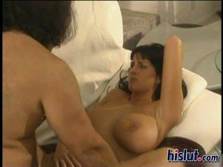 brunete, bigtits, licking