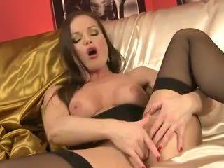 Silvia saint in nero lingerie