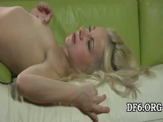 Virgin sucks a hard cock