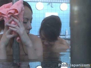 Muito jovem asiática gaja fodido em bath