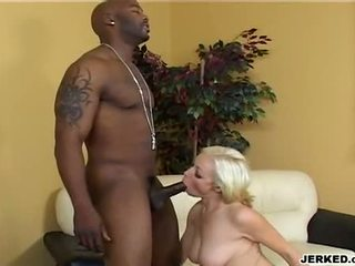Hawt blond adrianna nicole gagging a massive ireng meat