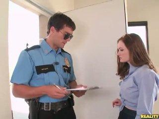 Hot schoolgirl Holly Hansen pick up a cop