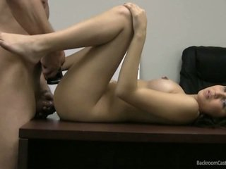 Michelle moans as she gets fucked on camera