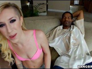 mooi hardcore sex scène, nominale pijpen gepost, heetste zuig- klem
