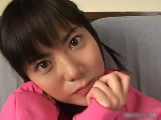 Cute asian babe masturbating video