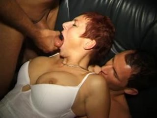 Naughty Austrian swinger gangbanged Video