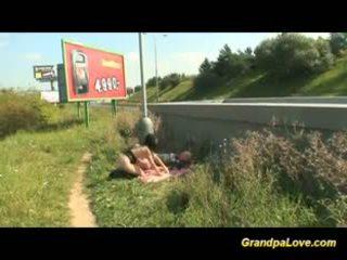 blow job video-, kwaliteit oud, heet grootmoeder klem