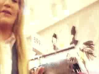 doll shopping convinced to show her ass for Cash