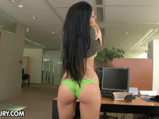 You Better Be Quiet And Work When Busty Aletta Ocean Is.