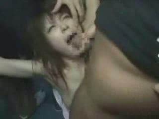 japanilainen, tyttö, groped, brutally