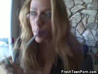 pijpen neuken, tiener film, controleren roken klem