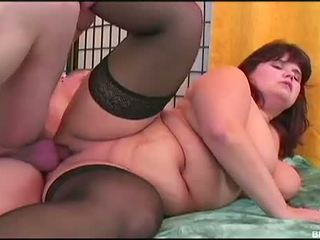 BBB Fever: BBW Babe in stockings gets rammed