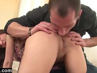 Champagne and ass fucking for a young girl