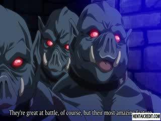 Hentai jente knullet av monsters