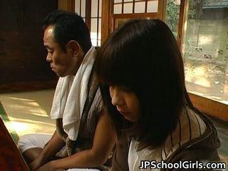 Haru sakuragi aasialaiset koulutyttö has seksi