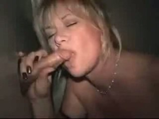 Identify: Busty Amateur MILF gloryhole swallowing