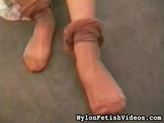 fetiș picior, uita-te chilot complet, nou footfetish