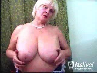mooi volwassen, aged lady actie, ideaal ervaren vrouwen thumbnail