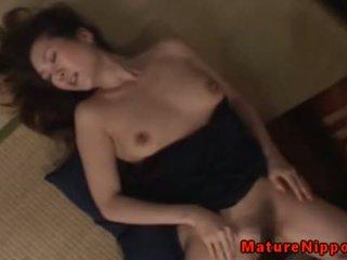 Japanese Mature MILF Gets Fingered