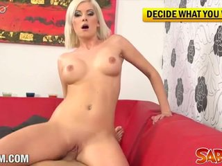 Blonde bianca loves to suck and swallow