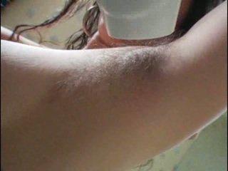 毛茸茸 armpits 和 的阴户
