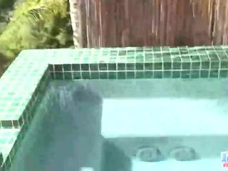 Horny Blonde Teen Undresses And Toys Involving Her Beaver By The Pool