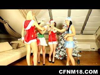 European christmas sex party