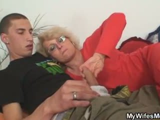 Wife finds him fucking her old mom and gets insane