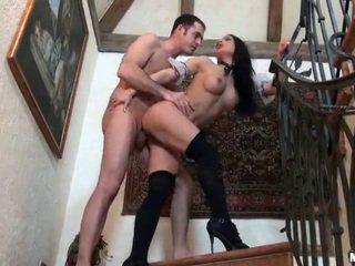 Long legged brunette gets fucked