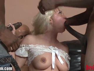 DevilsFilm Blonde Interracial GANGBANG