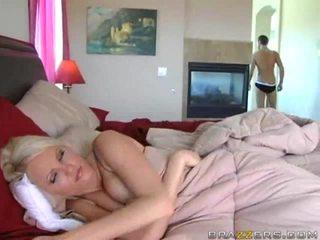 grandes mamas, cama, de trás