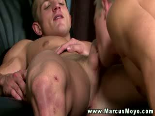 Straight dude gets his mouth fucked then his shaft and asshole licked