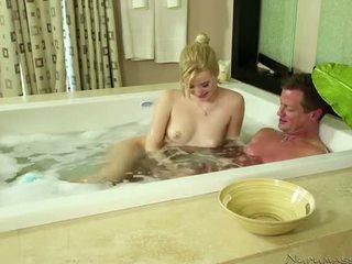 Sexy Blonde Takes Penis