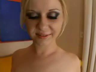 Aaralyn barra - blondinke je practicing za the kremna pita olinpic