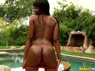 Slim and busty ebony belle Codi Bryant get dick