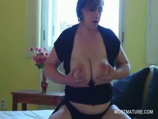 great brunette, quality big boobs clip, full granny thumbnail