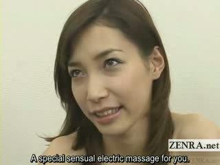 Jap lingerie stripping en vibrator spelen subtitled