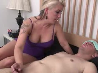 Step-mom helps болен step-son
