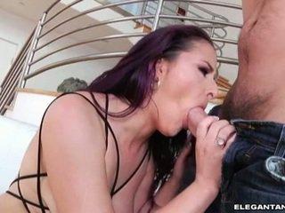 Caroline Pierce Plugs Her Man's Gigantic Vein In Her Slippery Mouth