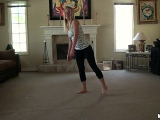 My GF practicing her moves
