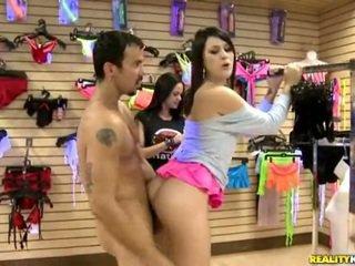 brunette, groot schattig porno, plezier kanaal