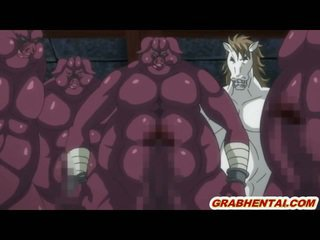 Busty hentai dp by monsters in the dungeon