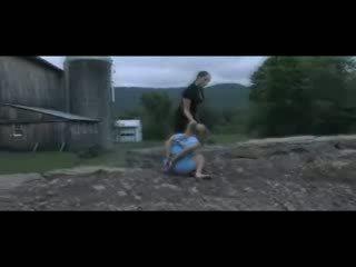 Slave Dia Zerva Outdoor Lesbian BDSM Enema and Humiliation