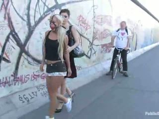Blonde Honey Carla Waking Down The Street Bound Up