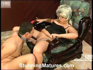 alter voll, heißesten oma sie, beobachten weibliche dominanz