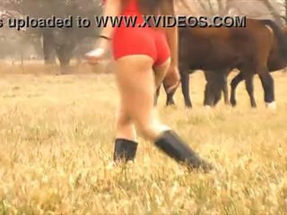 The Hot Lady Horse Whisperer - Amazing Body Latina! 10 Ass!