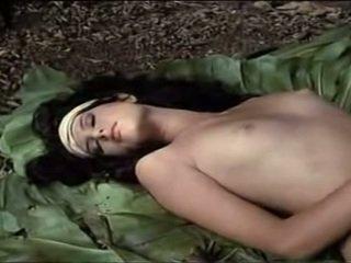 wijnoogst tube, heetste erotisch scène, mooi buiten- kanaal